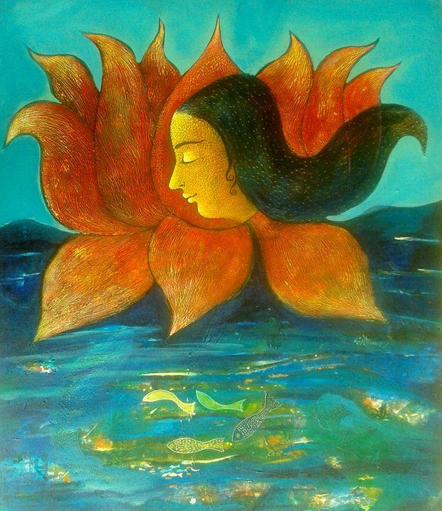 inner water - vibrant paintings