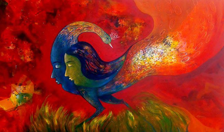 love - vibrant paintings