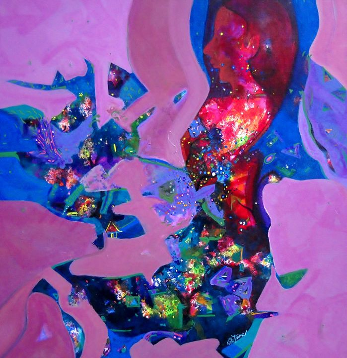 inner dreams II sold out - vibrant paintings
