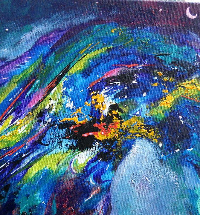 moon light - vibrant paintings