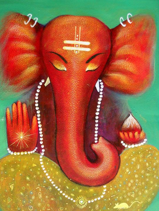 Ganesha - vibrant paintings
