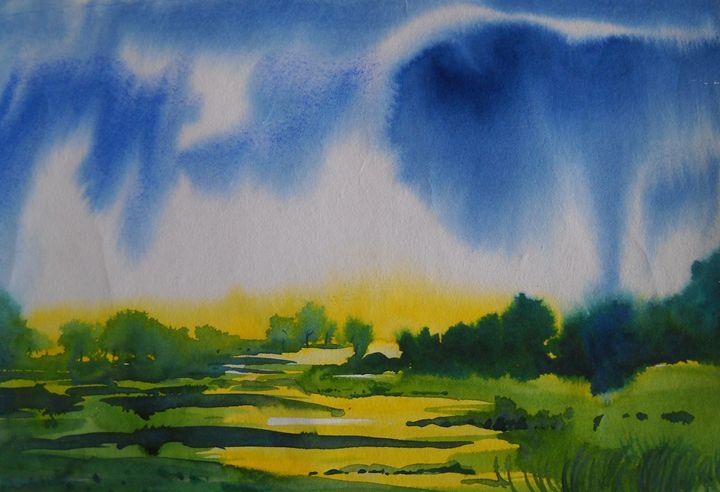 landscape 100 - vibrant paintings