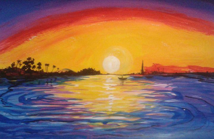 morning glory - vibrant paintings