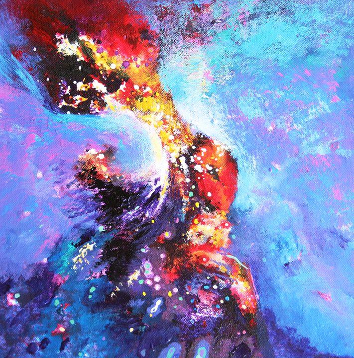 blue harmony. - vibrant paintings