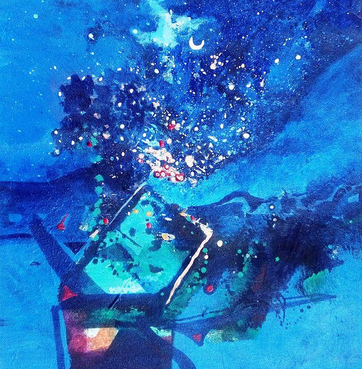 moonlight - vibrant paintings