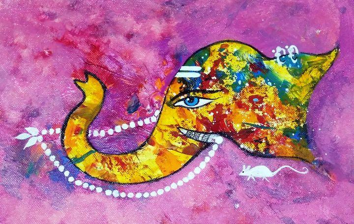 Ganesha 7 - vibrant paintings