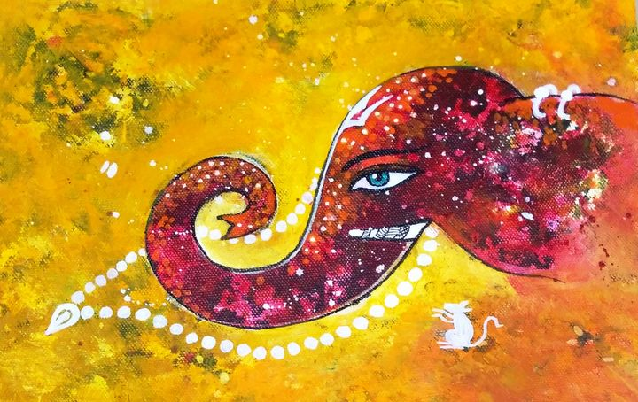 Ganesha 8 - vibrant paintings