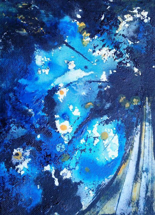 blue harmony - vibrant paintings