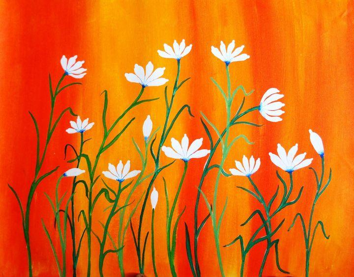floral paintings - vibrant paintings