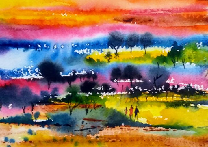 landscape 19 - vibrant paintings