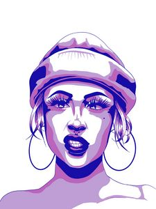 Attitude with Hoops - PurpleGradient