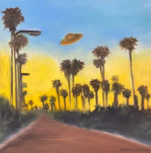 Ufo appears in hiking trail - Anthony Galeano Art