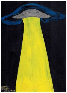 Yellow light Ufo - Anthony Galeano Art