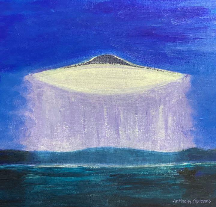 Ufo over Lake - Anthony Galeano Art