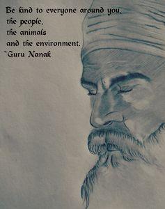 Sketch of Guru Nanak ji