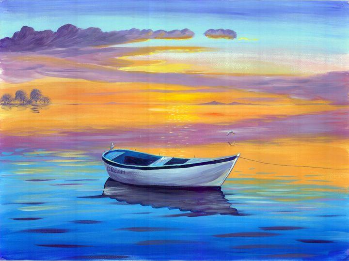 Sunset sea - Inspy Art by Tatyana Bondareva