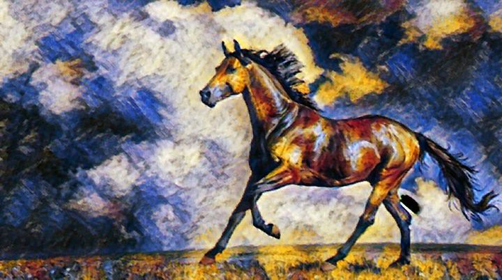 Horse in motion - Salaster