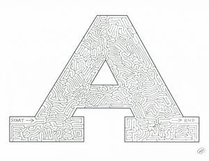 Letter A Maze