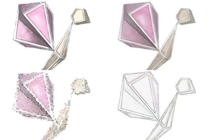 Glass butterfly - Lorelei