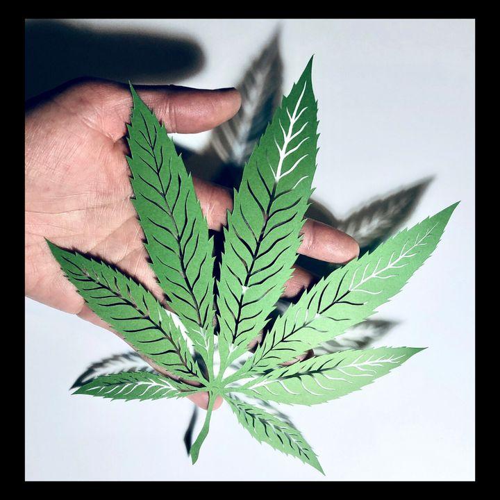 Pot Leaf   Papercut - Corie Mae Dark
