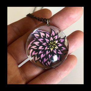 Heart-full Flower Papercut Necklace