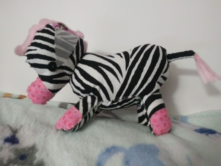Plush Decorative Zebra - Nostalgic Animations
