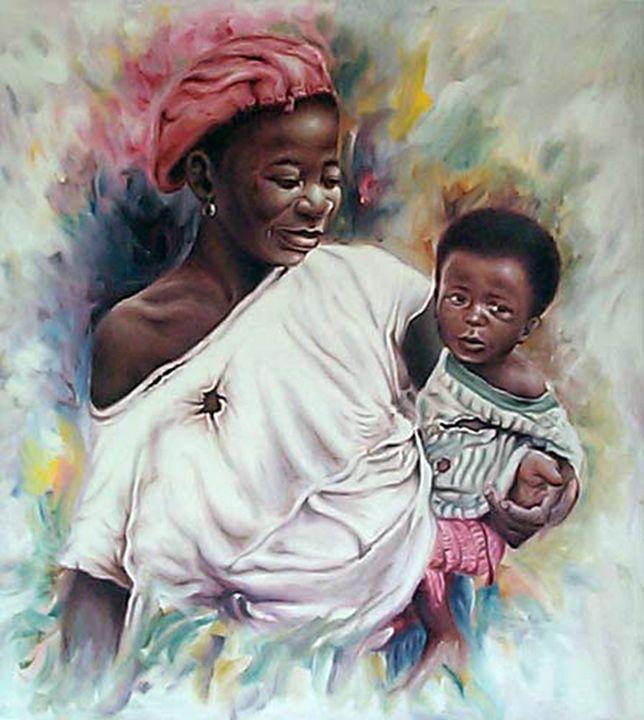 African mum n son - MD art studio