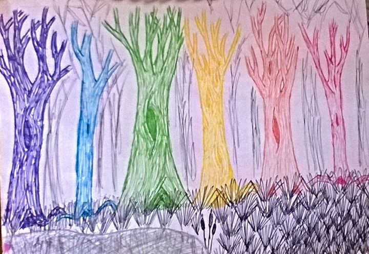 Colorful Forest - Work by Layla