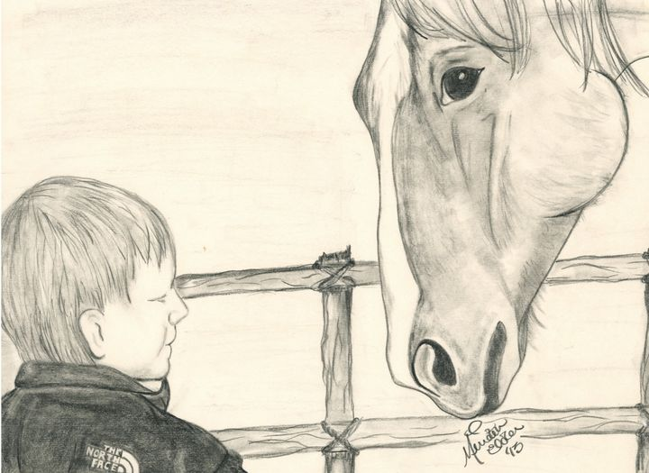 Friendly Visit/Conner and Horse - Elder Gallery