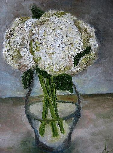 White Hydrangea Bouquet - Audriana Vandenoever