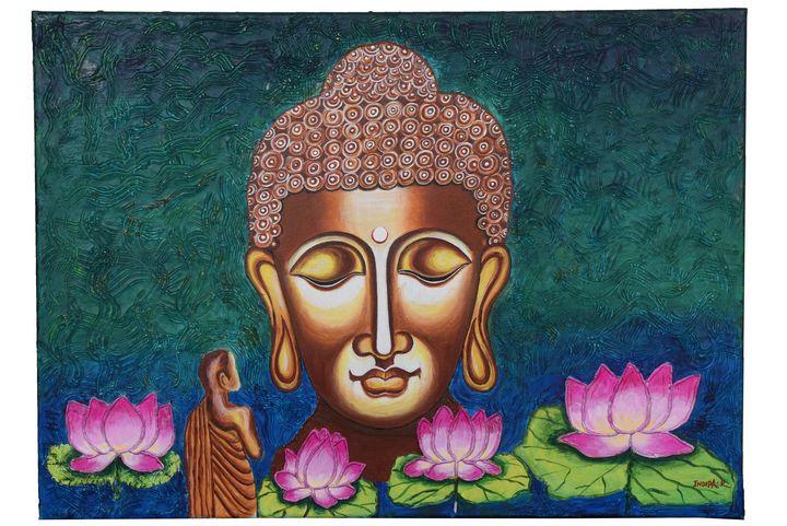 Buddha Meditating - Inner Peace - Indira Rajesh