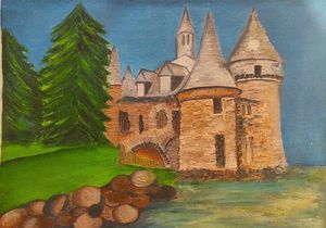 Abstract Castle-Oil on Canvas