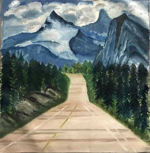 Road Journey-Oil on Canvas