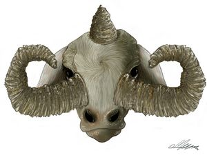 The three horned calf