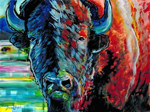 Portrait of an American Bison - Bradley's Art