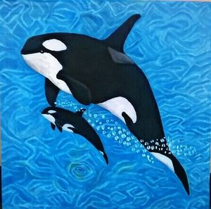 orca (mother and daughter)