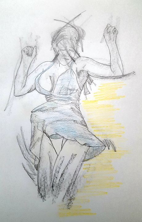 Female Sketch - South Beach, Miami Art