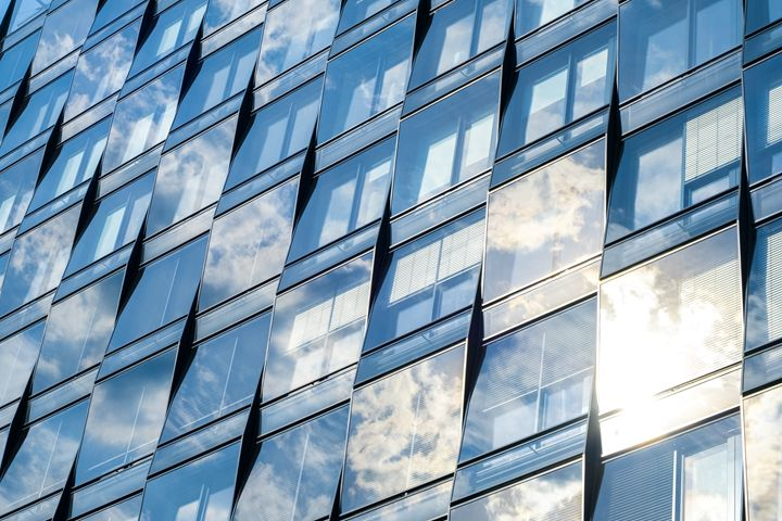 glass facade, office building - hanoh iki