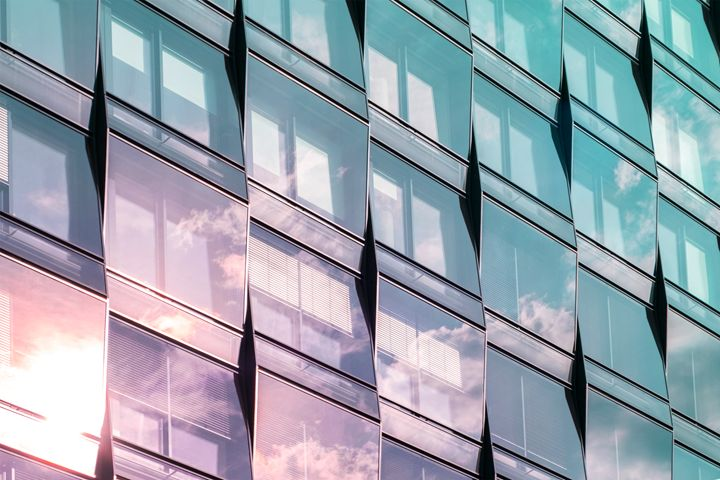 modern architecture, glass facade - hanoh iki