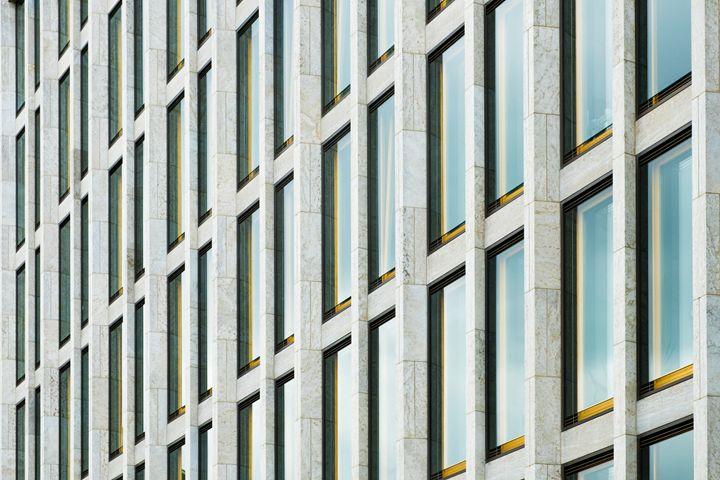 Modern building facade detail ,  arc - hanoh iki