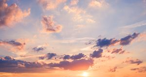 sunset sky panorama - scenic sky