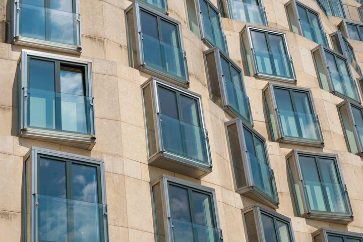 Modern building facade in Berlin - hanoh iki