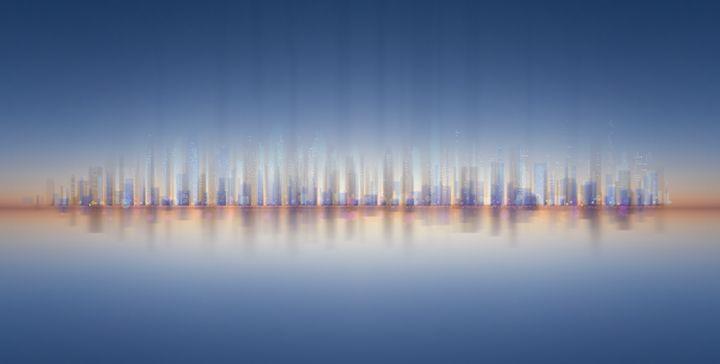 City Panorama / skyline at night - hanoh iki