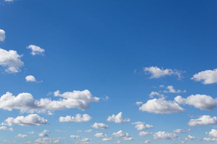 blue sky and clouds - window - hanoh iki
