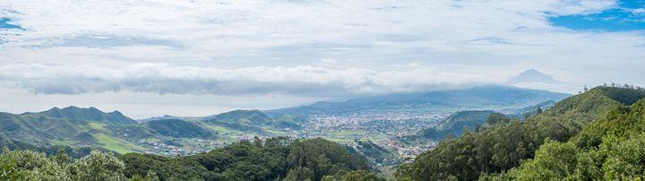 Landscape panorama, valley Tenerife - hanoh iki