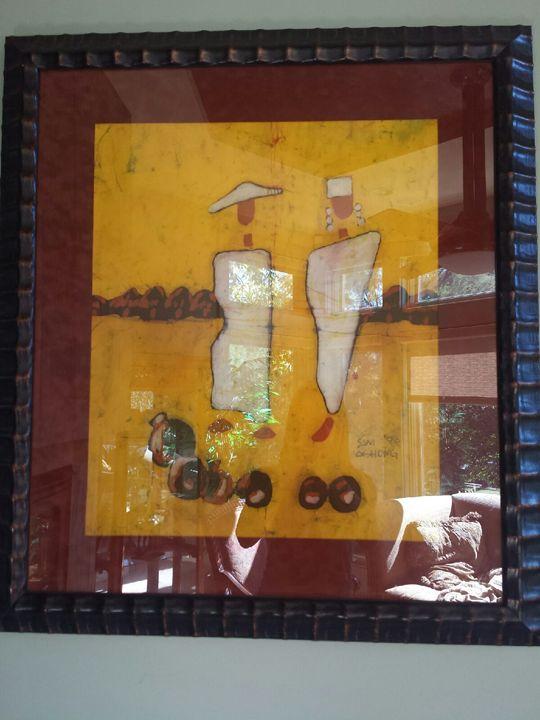 Samuel Ashong batik - African art - Ashong