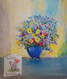 Painting of a bouquet of flowers - GraemesArt