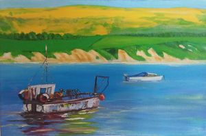 Fishing boat at Cornwall