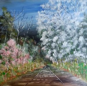 Railway track in the woods - GraemesArt