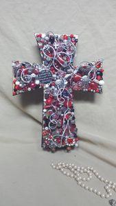Red Beaded Cross